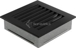 Решетка для камина Kratki Fresh 17х17 черная. Фото 5