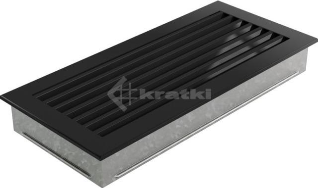 Решетка для камина Kratki Fresh 17х37 черная. Фото 5