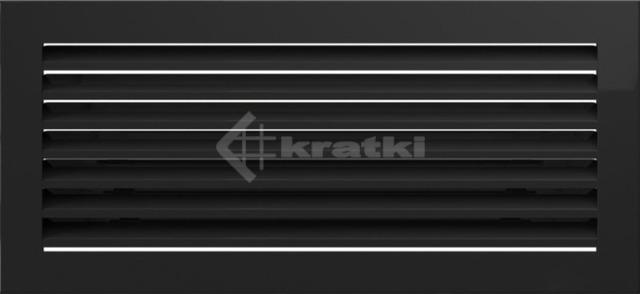 Решетка для камина Kratki Fresh 17х37 черная