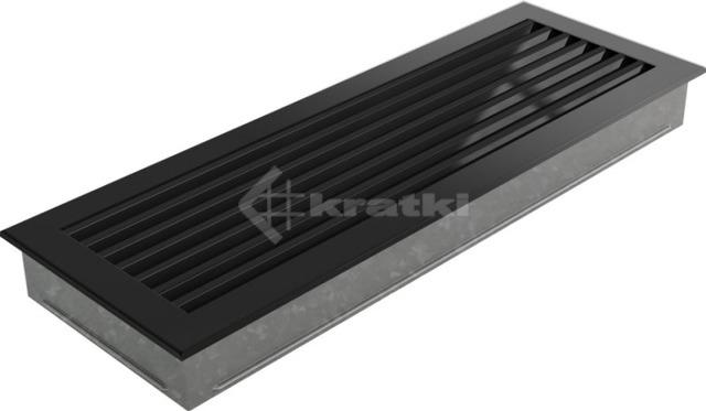 Решетка для камина Kratki Fresh 17х37 черная. Фото 3
