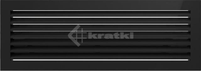 Решетка для камина Kratki Fresh 17х37 черная. Фото 2
