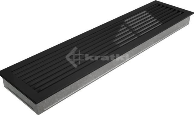 Решетка для камина Kratki Fresh 17х70 черная. Фото 5