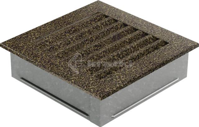 Решетка для камина Kratki Fresh 17х17 черно-золотая. Фото 5