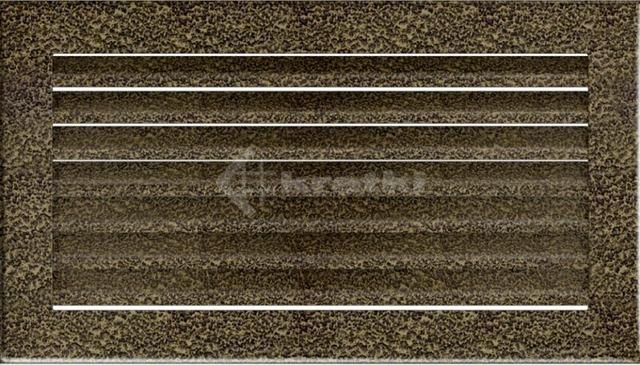 Решетка для камина Kratki Fresh 17х17 черно-золотая. Фото 2