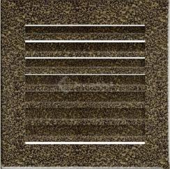 Решетка для камина Kratki Fresh 17х17 черно-золотая