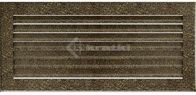 Решетка для камина Kratki Fresh 17х30 черно-золотая. Фото 2