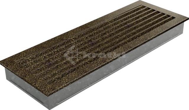 Решетка для камина Kratki Fresh 17х49 черно-золотая. Фото 5