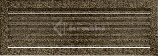 Решетка для камина Kratki Fresh 17х49 черно-золотая