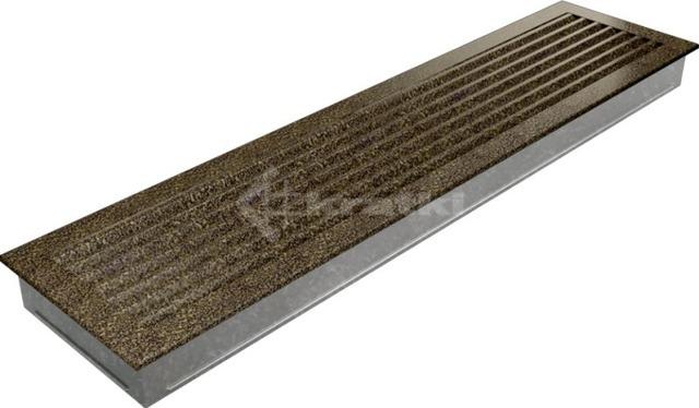 Решетка для камина Kratki Fresh 17х49 черно-золотая. Фото 3