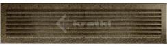 Решетка для камина Kratki Fresh 17х49 черно-золотая. Фото 2