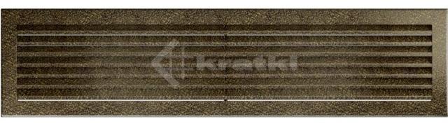 Решетка для камина Kratki Fresh 17х70 черно-золотая