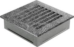 Решетка для камина Kratki Fresh 17х70 черно-золотая. Фото 3