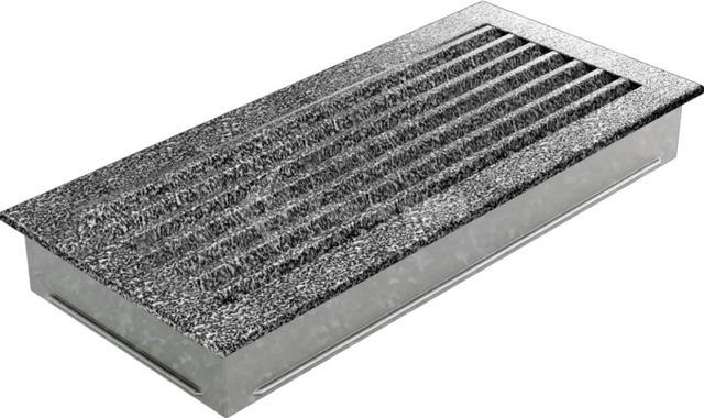 Решетка для камина Kratki Fresh 17х30 черно-серебряная. Фото 3