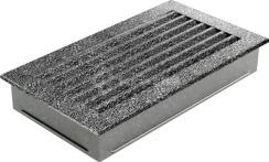Решетка для камина Kratki Fresh 17х30 черно-серебряная. Фото 5