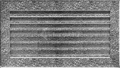 Решетка для камина Kratki Fresh 17х30 черно-серебряная