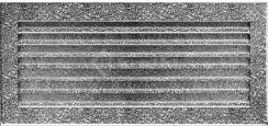 Решетка для камина Kratki Fresh 17х30 черно-серебряная. Фото 2