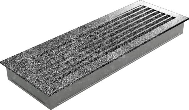 Решетка для камина Kratki Fresh 17х49 черно-серебряная. Фото 5