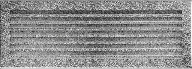 Решетка для камина Kratki Fresh 17х49 черно-серебряная