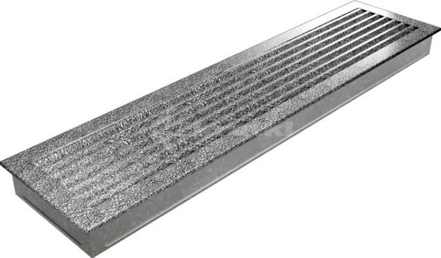 Решетка для камина Kratki Fresh 17х49 черно-серебряная. Фото 3