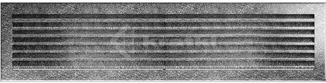 Решетка для камина Kratki Fresh 17х49 черно-серебряная. Фото 2