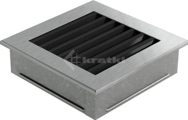 Решетка для камина Kratki Fresh 17х70 черно-серебряная. Фото 3