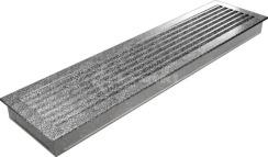 Решетка для камина Kratki Fresh 17х70 черно-серебряная. Фото 5