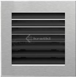 Решетка для камина Kratki Fresh 17х70 черно-серебряная. Фото 2