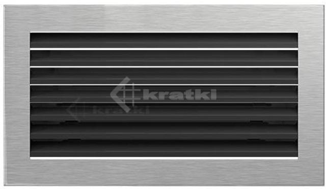 Решетка для камина Kratki Fresh 17х17 шлифованная. Фото 2