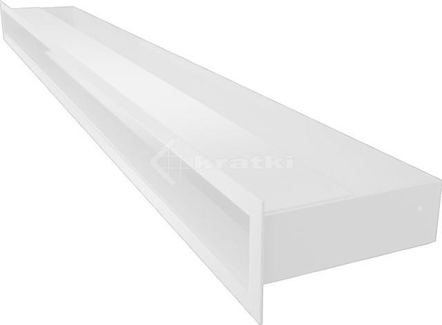 Решетка для камина Kratki Luft 45S 6x100 белая. Фото 3