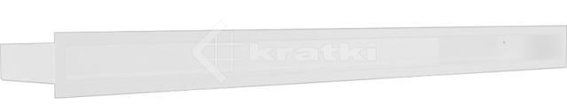 Решетка для камина Kratki Luft 45S 6x100 белая. Фото 2