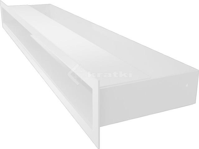 Решетка для камина Kratki Luft 45S 6x60 белая. Фото 2