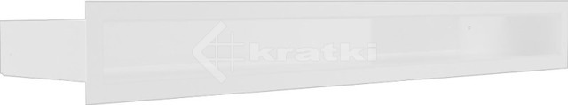 Решетка для камина Kratki Luft 45S 6x60 белая. Фото 3
