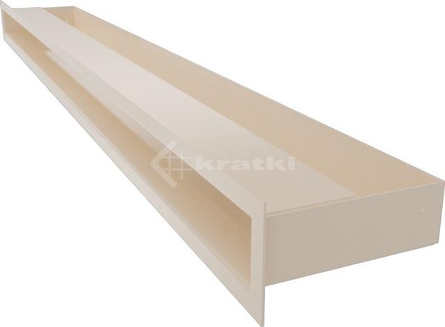 Решетка для камина Kratki Luft 45S 6x100 кремовая. Фото 3