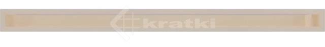 Решетка для камина Kratki Luft 45S 6x100 кремовая