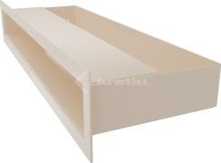 Решетка для камина Kratki Luft 45S 6x40 кремовая. Фото 3