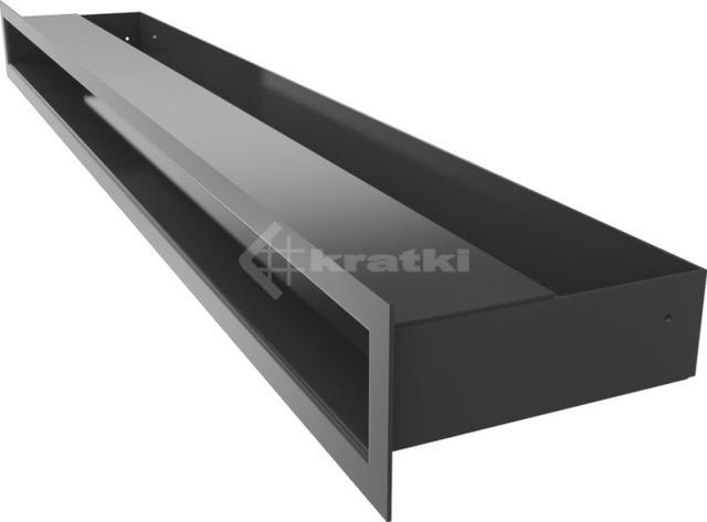 Решетка для камина Kratki Luft 45S 6x80 графитовая. Фото 3