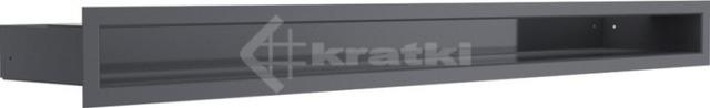 Решетка для камина Kratki Luft 45S 6x80 графитовая. Фото 2