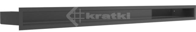 Решетка для камина Kratki Luft 45S 6x100 черная. Фото 2
