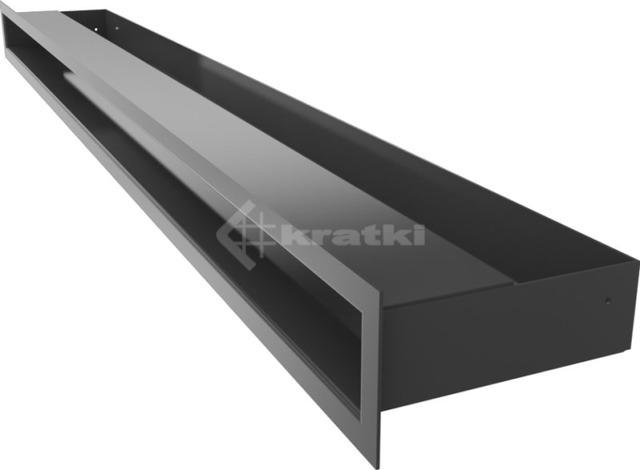 Решетка для камина Kratki Luft 45S 6x100 черная. Фото 3