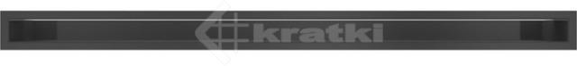Решетка для камина Kratki Luft 45S 6x100 черная