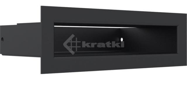 Решетка для камина Kratki Luft 45S 6x20 черная. Фото 3