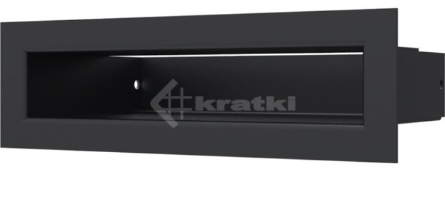 Решетка для камина Kratki Luft 45S 6x20 черная. Фото 2