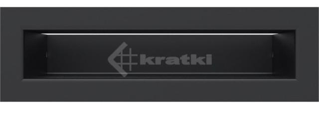 Решетка для камина Kratki Luft 45S 6x20 черная