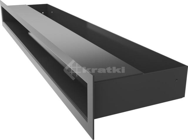 Решетка для камина Kratki Luft 45S 6x60 черная. Фото 3