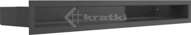 Решетка для камина Kratki Luft 45S 6x60 черная. Фото 2