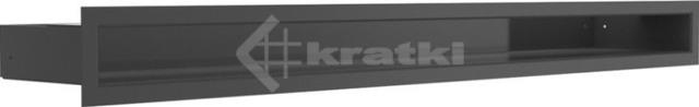 Решетка для камина Kratki Luft 45S 6x80 черная. Фото 2