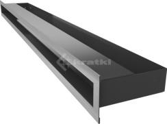 Решетка для камина Kratki Luft 45S 6x100 шлифованная. Фото 3