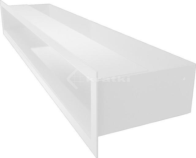 Решетка для камина Kratki Luft 45S 9x60 белая. Фото 3