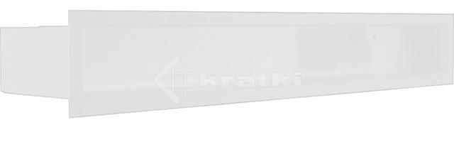Решетка для камина Kratki Luft 45S 9x60 белая. Фото 2