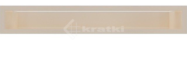 Решетка для камина Kratki Luft 45S 9x60 кремовая